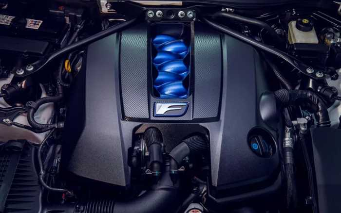 New 2021 Lexus RC F Engine